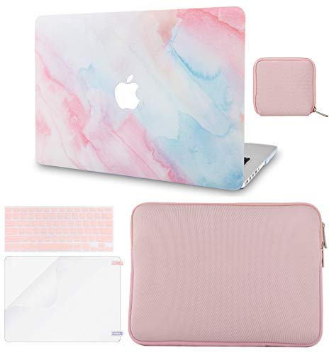 LuvCase 5in1 Laptop Case For MacBook Air 13 Inch (2021/2020) A2337 M1/A2179 Retina Display (Touch ID) Hard Shell Cover, Slim Sleeve, Pouch, Keyboard Cover & Screen Protector...