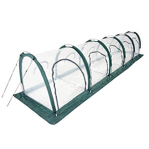 La serre végétale de fruit de ménagers, la serre chaude froide de cadre en plastique claire de PVC claire, le grand vert transparent de serre tunnel de PVC élèvent le cadre en acier de Chambre