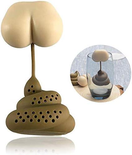 TBWHL Funny Loose Leaf Tea Infuser Ball Food Grade Silicone Stool Shape Hot Tea Infuser Tea product image