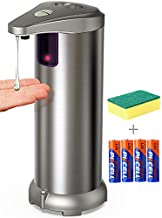Automatic Soap Dispenser, Touchless Soap Dispenser Equipped Stainless Steel w/Infrared Motion Sensor Upgraded Waterproof Base for Bathroom & Kitchen