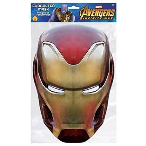 Generique - Iron Man Maske Avengers Infinity War rot-Gold Einheitsgröße