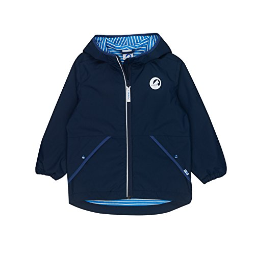 Finkid Puuskiainen navy denim Kinder Zip In Wind & Regenjacke