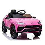 Licensed Lamborghini Urus Kids Ride On Car Toy w/ Parent Remote Control, Electric Cars for Kids 12V Motor Rechargeable, Foot Pedal , Spring Suspension, Led Headlight,Birthday Gift.