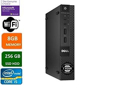 Dell Optiplex 9020 Ultra Small Tiny Desktop Micro Computer PC (Intel Core i5-4570T, 8GB Ram, 256GB Solid State SSD, WiFi, Bluetooth, HDMI Win 10 Pro (Renewed)