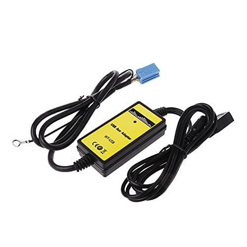Qinndhto Coche MP3 Interfaz de Radio del Jugador CD Cambiador USB SD AUX IN Apto para Audi A2 A4 A6 S6 A8 S8 8P Zócalo de Adaptador de Cable automático Adaptadores