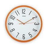 Versa 20550057 Reloj De Pared Naranja Dia 30, Multicolor, No Aplica