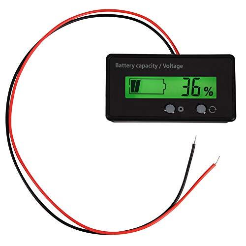 Yosoo Health Gear Pantalla LCD Digital Indicador del Estado de la batería Medidor de Voltaje Monitor, DC 6-70V Probador de Capacidad de la batería para vehículo vehículo