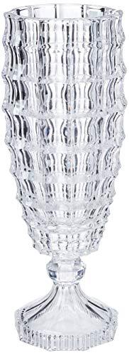 Vaso Square em Cristal Ecológico com Pé L'Hermitage Multicor 12.5 x 37.5 cm Pacote de 1 Vidro