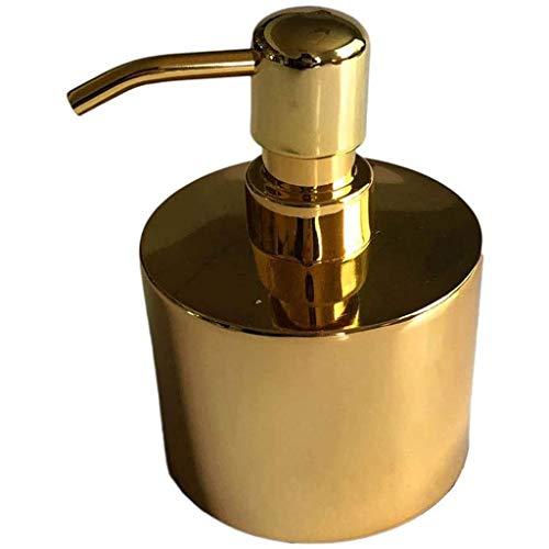 dongdong Seifenspender 304 Edelstahl Flüssigkeitsspender Lotion-Flasche einhändige Lotions-Zufuhr Zylinder Plus Liner Goldfarbe 300ml for Badezimmer, Küche-Wanne Küchenseifenspender