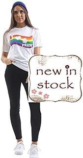 Hi Fashionz Ladies I Love Gay Pride Printed T-Shirt Womens Rainbow Lesbian Tee LGBT Festival Flag Tshirt Top