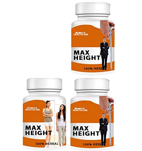 Zemaica Healthcare Max Height Growth- Ayurvedic Medicine - Women/Men 90 Capsule Pack of 3