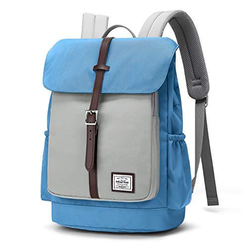 WindTook Mochila Tipo Casual 14 Pulgadas Mochila Portatil Laptop Backpack Mochilas Escolares Neotbook Hombre Mujer Mochilas de Universiteria Trabaja Viaje 33x17x38CM Gri&Azul
