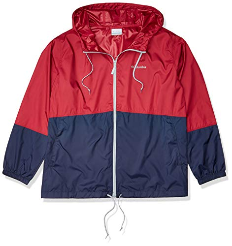 Columbia Flash Forward Windbreaker, Water & Stain Resistant Cortavientos, Orchidée Rouge/Nocturne, 1X para Mujer