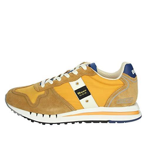 Blauer Scarpe Sneaker Running Quartz in Suede/Tessuto ocra Uomo US21BU08 41