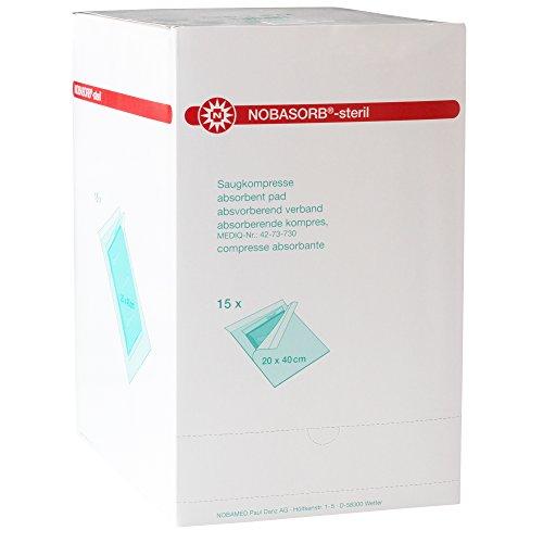 Nobasorb-steril Saugkompresse 20 x 40 cm, 15 St