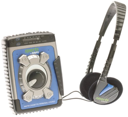 GPX C3302RS Sports Cassette Player, Blue