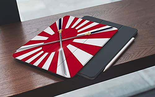 Funda para iPad 10.2 Pulgadas,2019/2020 Modelo, 7ª / 8ª generación,La bandera japonesa del sol naciente en rojo y blanco con dos espadas de samurai cru Smart Leather Stand Cover with Auto Wake/Sleep