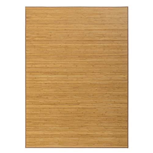 Hogar y Mas Alfombra de Salón o Comedor, Marrón de Bambú Natural 180 x 250 cm Natur 180x250