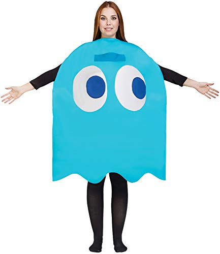 Adult Pac Man Inky Costume Blue
