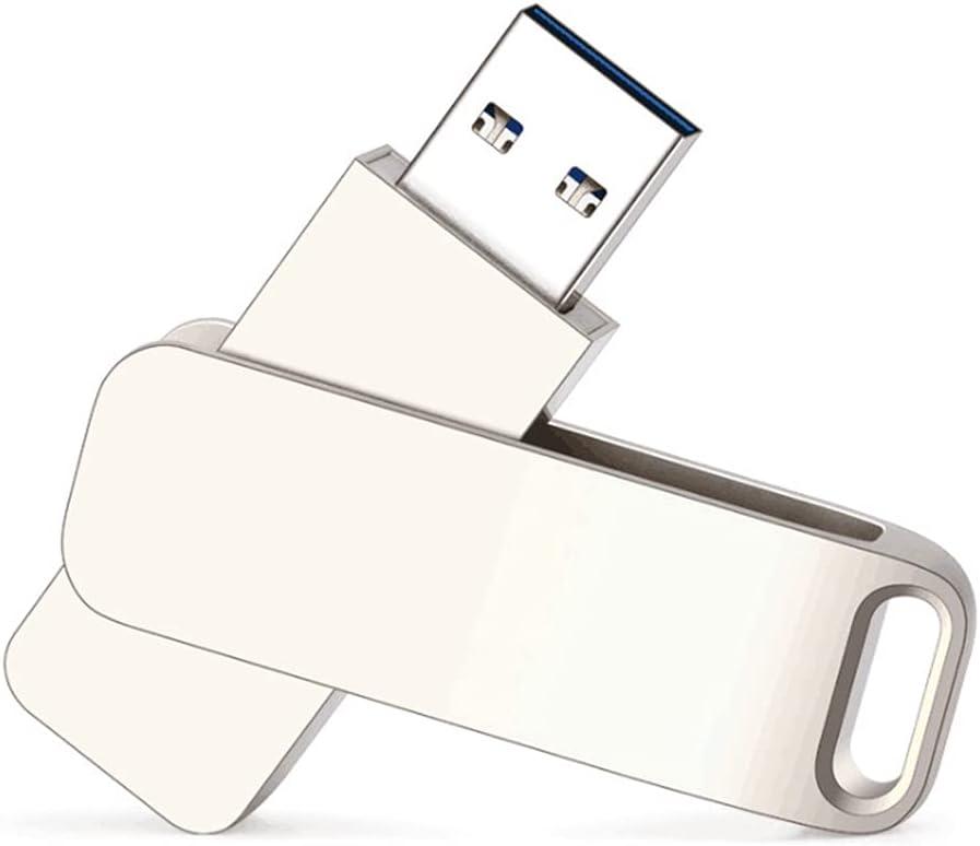 128GB USB Flash Drive USB 3.0 Stick Metal Rotation USB Flash Drives (128GB)