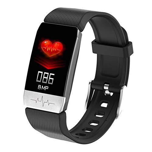 Easy-topbuy Reloj Inteligente Bluetooth con Termómetro, Smartwatch A Prueba De Agua Pulsera Inteligente Rastreadores De Actividad para Frecuencia Cardíaca, Presión Arterial, Oxígeno En Sangre