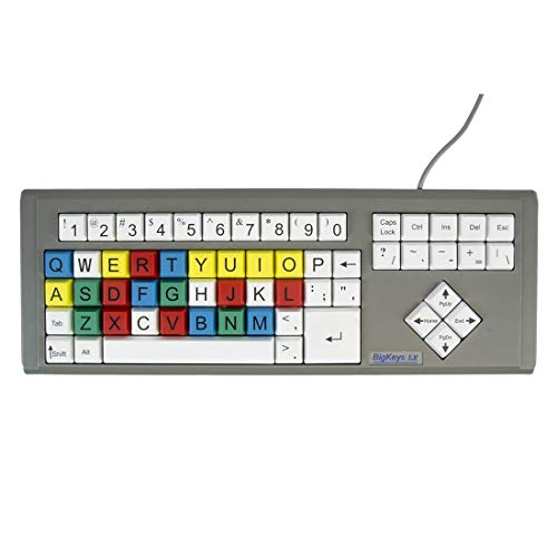 Ablenet BigKeys LX, Multi-Color QWERTY keyboard, Large Letters...
