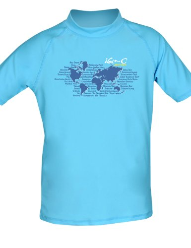 iQ-UV Kinder UV-Shirt IQ 300 Youngster Ocean, türkis, 128