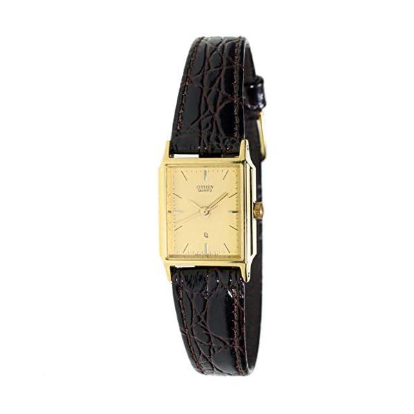Citizen Ey-0092 Reloj Analogico para Mujer Caja De Acero Inoxidable Esfera