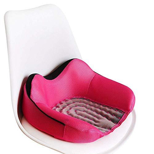 ZLININ Y-longhair - Cojín de asiento de coche para silla de oficina y computadora, cojín de asiento para silla de oficina, coche, avión y asiento trasero (color: rojo, tamaño: 9 x 40 x 14 cm)