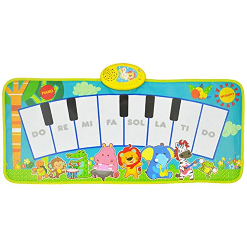 Prairie Music Piano Blanket, Collapsible Can Be Touched by Hand and Stepped on by Foot Electronic Piano Boys and Girls, Infants, Baby Crawling Mat Foot Pedal Folding Early Education Toy
