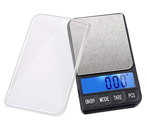 YZSHOUSE Oksmsa Mini Joyería Balanza Electrónica Precisión 0.01g Laboratorio Balanza por Oro Diamante Peso con Luz De Fondo (Color : Black, Size : 100g/0.01g)