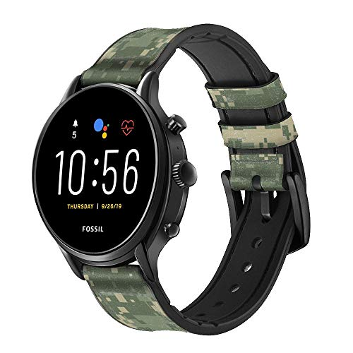 CA0234 Digital Camo Camouflage Graphic Printed Leather &...