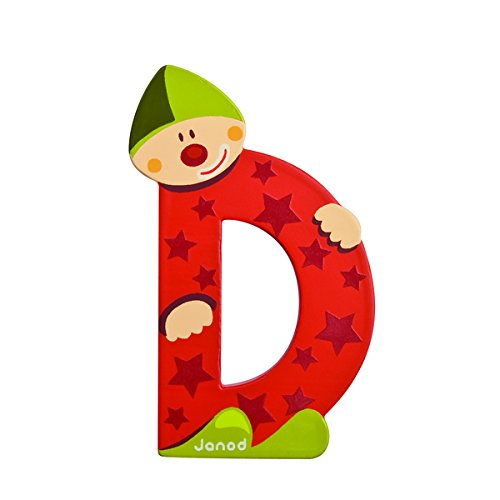 Janod 4504545 - Buchstaben Clown D