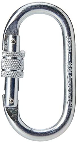 Silverline 253600 - Mosquetón de seguridad con cierre a rosca (Apertura 19 mm)