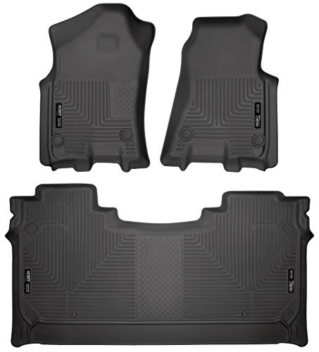 Husky Liners Fits 2019-20 Dodge Ram 1500 Crew Cab with factory storage box Weatherbeater Front & 2nd Seat Floor Mats