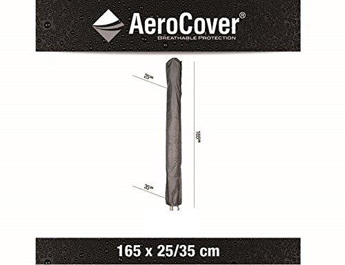 Ademende, vorstbestendige en waterdichte AeroCover beschermhoes in antraciet voor een parasol, 165 x 25/35 cm, 7982