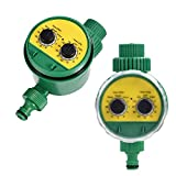 Sprinkler Controller,Electronic Water Timer with Two Dial, Automatic Irrigation Timer Garden Hose Water Tap Timer Garden Hose Irrigation System Controller for Garden Greenhouse Plant Grass Flowers