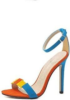 SHANLEE Women's Ankle Strap Heel Sandals,Dress,Party, Wedding Shoes Open Toe High Heel Sandals for Women
