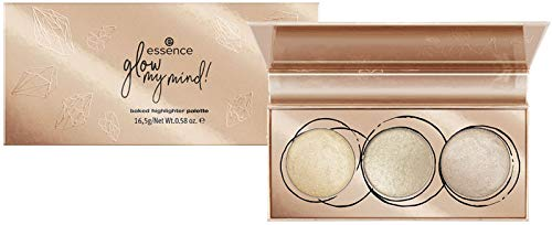Essence Glow my mind! Baked Highlighter Palette Nr. 01 Here we glow again Inhalt: 16,5g