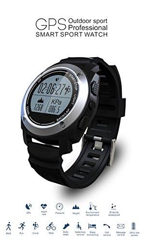 Pinkbenmus - Reloj Pulsera Contador/Diseño Bluetooth, Reloj Inteligente Deportivo, Rastreador de GPS, Compatible con IOS8 + / Android4.3 +