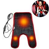 12V Heated Baby Car Seat Cushion with Cigarette Lighter, Warm Seat Heater Pad