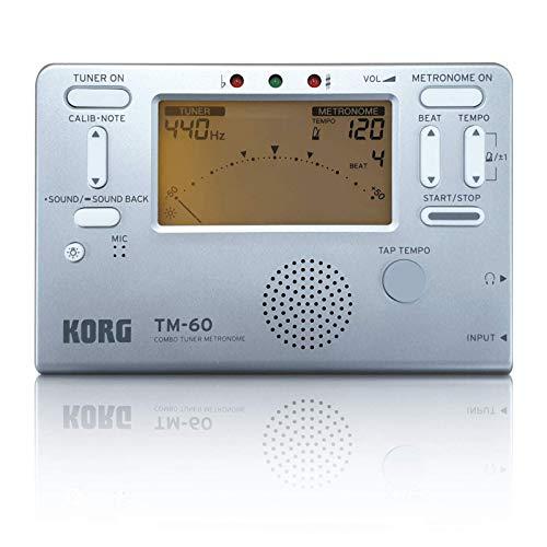 Afinador/metrónomo Korg TM-60 de edición limitada en color plateado