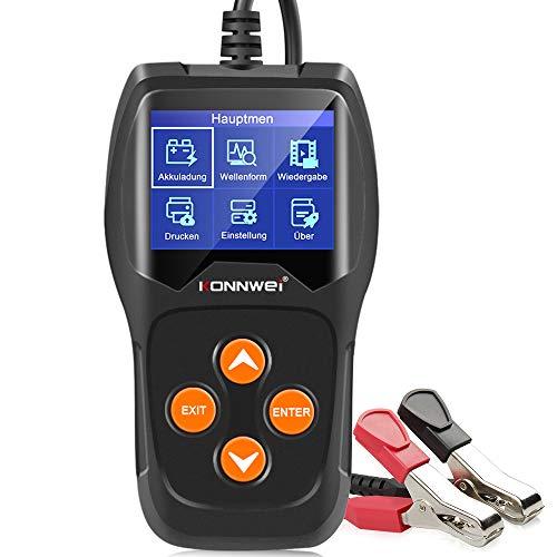 KONNWEI KW600 12V Professional Batterietester 100-2000 CCA 220AH Automotive Batterie Analyzer Batteriezustand Test-Tool für Auto/Boot/Motorrad und Mehr