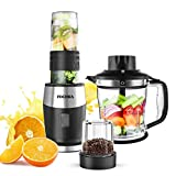 Smoothie Blender, High-Speed Personal Blender for Smoothies and Ice Shakes, 2019 Upgraded 3-in-1...
