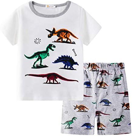 Little Hand Boys Pajamas Dinosaur Sleepwear PJS Kids Short Set 100 Cotton Toddler Clothes 2 product image