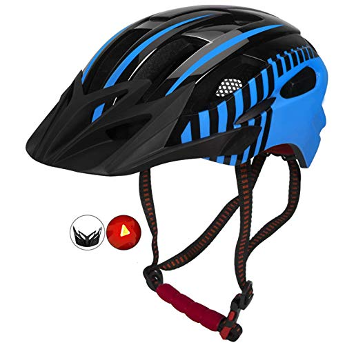 Helm Yuan Ou Fahrradhelm Fahrradhelm LED Light Integral geformter Fahrradhelm mit...