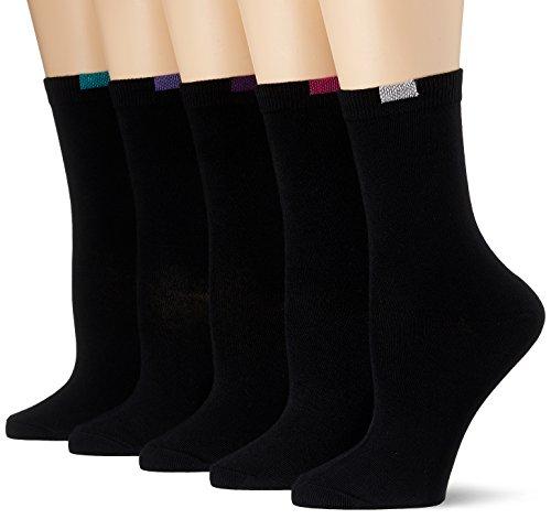Dim Mi-chaussette Ecodim X5 Calcetines, Negro (Noir), Talla única (Talla del fabricante: TU) (Pack de 5) para Mujer