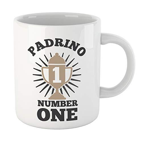 Kembilove Tazas Familiares – Preciosas Tazas para Toda la Familia – Tú Eres El Padrino Número Uno – Magníficas Tazas de Café para Hombres y Mujeres – Regalos Divertidos para Familiares y Amigos