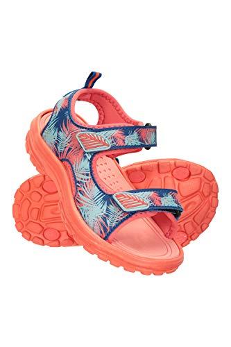 Mountain Warehouse Sandalias Sand para niña - Zapatos con Forro de Neopreno, Sandalias de Verano con Suela Resistente, Calzado con Tira de talón Desmontable Rosa 29