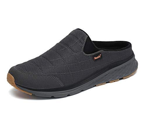 Zapatillas de Estar en Casa Mujer Hombre Invierno Zapatillas de Interior Cálidas Blanditas Antideslizante gris39